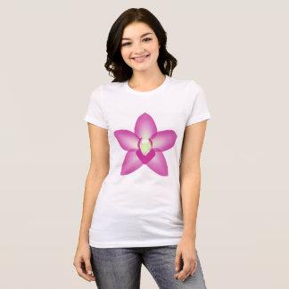 T-shirt da orquídea de Singapore Camiseta