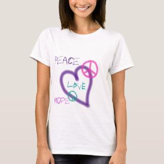 T-shirt da paz dos grafites camiseta