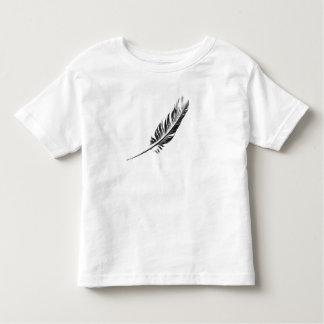 T-shirt da pena da criança camiseta infantil