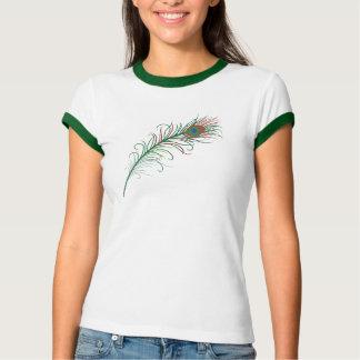 T-shirt da pena do pavão
