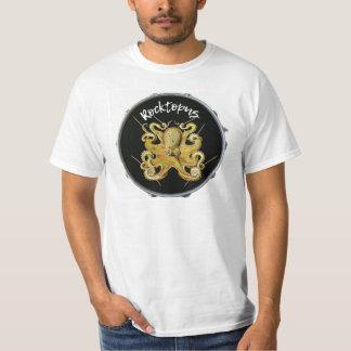 T-shirt da percussão do baterista de Rocktopus Camiseta