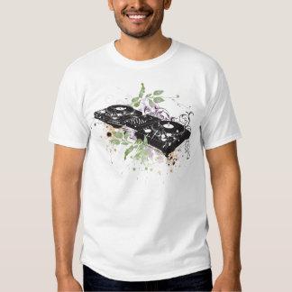 T-shirt da plataforma giratória do DJ