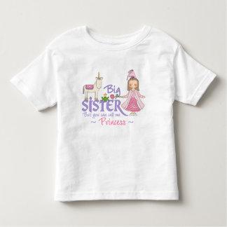 T-shirt da princesa irmã mais velha do unicórnio camiseta infantil