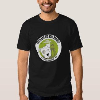 T-shirt da segurança do pitbull para homens e