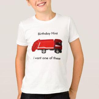 T-shirt da sugestão do aniversário (6-8 anos) camiseta