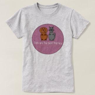 T-shirt da terapia do animal de estimação
