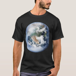 T-shirt da terra do planeta