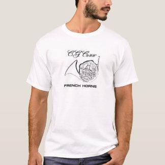 T-shirt da trompa francesa da conexão camiseta