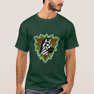 T-shirt da zebra do safari camiseta