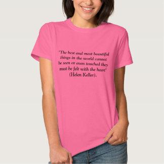 T-shirt das citações da beleza de Helen Keller