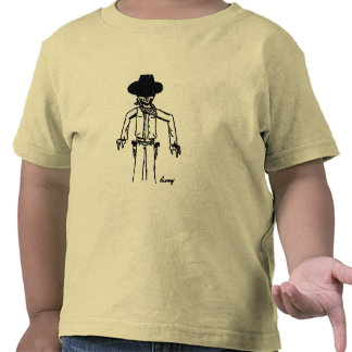 T-shirt das crianças do esboço do vaqueiro