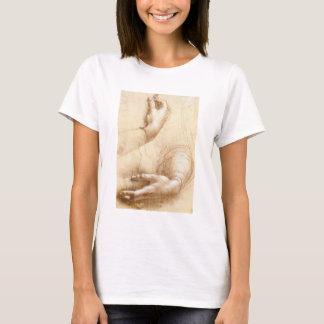 T-shirt das mãos de da Vinci
