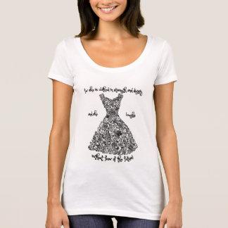 T-shirt das senhoras com o vestido famoso dos