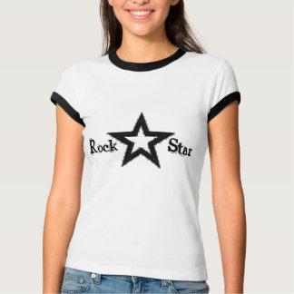 T-shirt das senhoras da estrela do rock camiseta