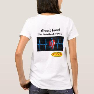 T-shirt das senhoras da pulsação do coração camiseta