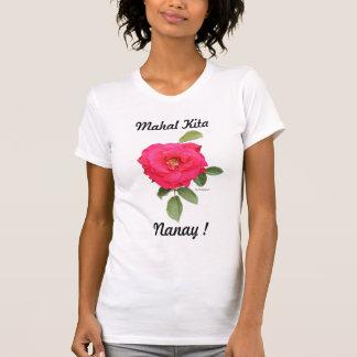 T-shirt das senhoras de Mahal Kita pequeno