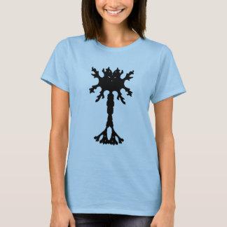 T-shirt das senhoras do neurônio da mancha de camiseta