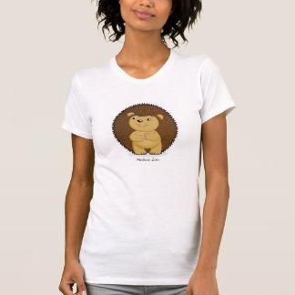 T-shirt das senhoras do ouriço