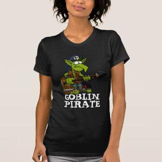 T-shirt das senhoras do pirata do diabrete camiseta
