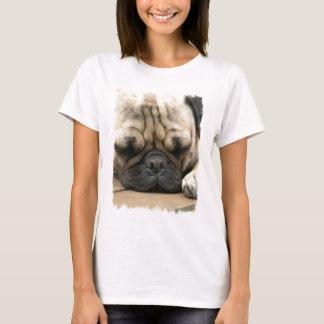 T-shirt das senhoras do Pug do sono Camiseta