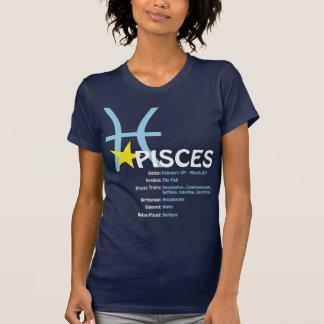T-shirt das senhoras dos traços dos peixes camiseta