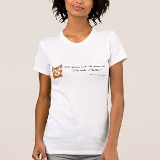 T-shirt das senhoras: O gato