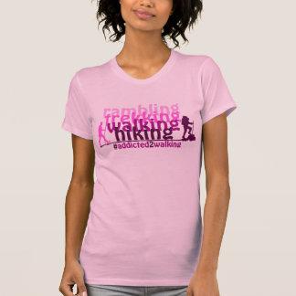 T-shirt de #addicted2walking - impressão