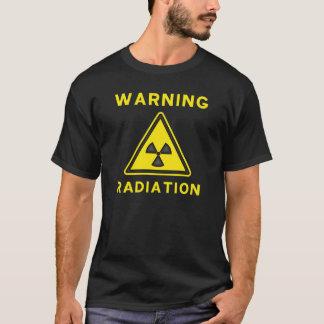 T-shirt de advertência da radiação camiseta