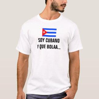 T-shirt de Bolaa do que de Cubano y da soja Camiseta
