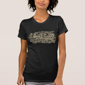 T-shirt de BRASIL do brilho Camiseta