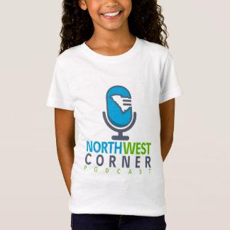 T-shirt de canto noroeste das meninas do Podcast Camiseta