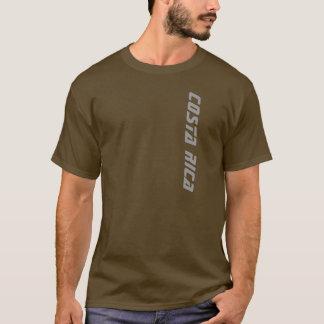 T-shirt de Costa Rica dos homens de Brown Camiseta
