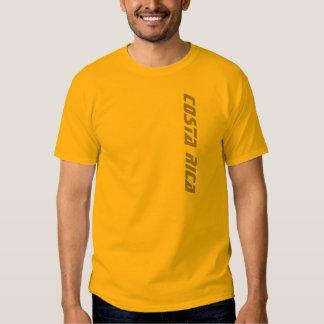 T-shirt de Costa Rica dos homens do ouro