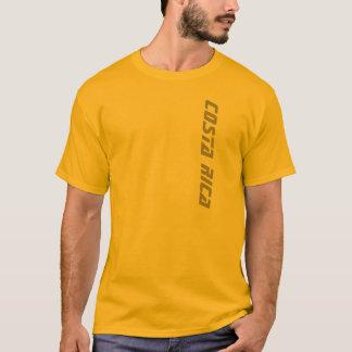 T-shirt de Costa Rica dos homens do ouro Camiseta