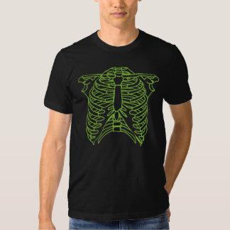T-shirt de esqueleto verde