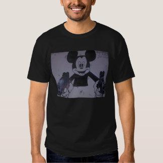 T-shirt de Gangsta Mickey no preto