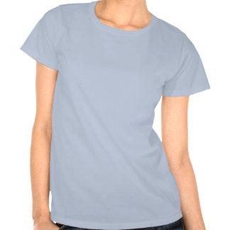 T-shirt de incandescência azul das libélulas