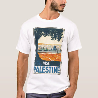 T-shirt de Palestina da visita Camiseta