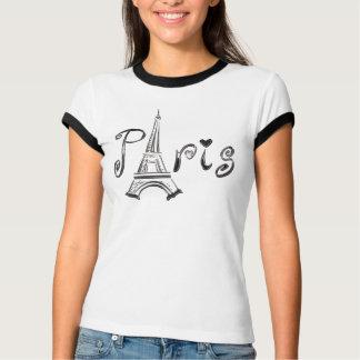 T-shirt de PARIS com a torre Eiffel Camiseta