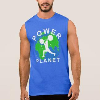 T-shirt de Powerlifting do planeta do poder