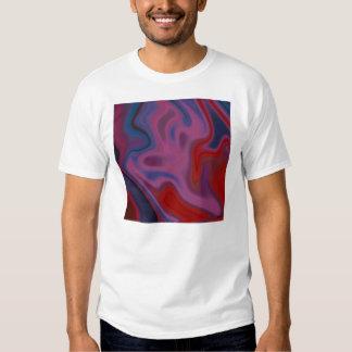 T-shirt de riso da arte abstracta do homem