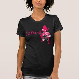 T-shirt de SALSERA com design da menina & da flor Camiseta