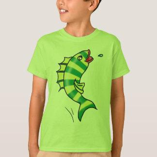 T-shirt de salto dos peixes dos desenhos animados camiseta