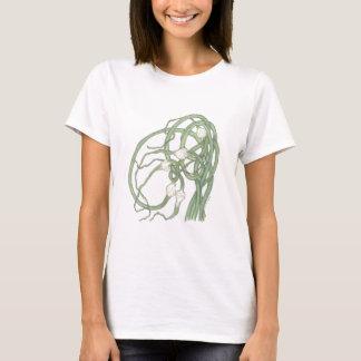 T-shirt de Scapes do alho Camiseta