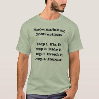 """""""T-shirt de Sledders.com das instruções Camiseta"""