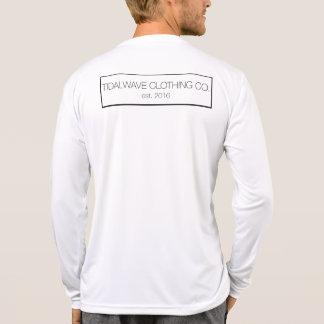 """T-shirt de """"Wordmark"""" do maremoto da Longo-Luva - Camiseta"""