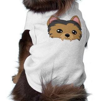 T-shirt de Yorkie Camisa Sem Mangas Para Cachorro