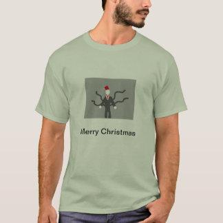 T-shirt delgado do Natal do homem Camiseta