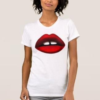 T-shirt dentado aberto da menina
