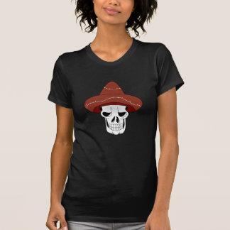T-shirt destruído do crânio mulher mexicana